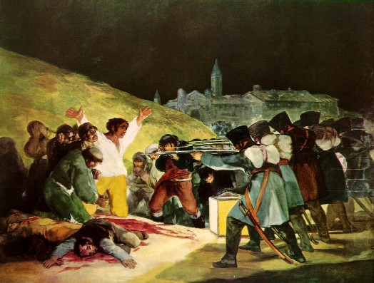 ההוצאה להורג  ב-3 למאי 1808 – שמן על קנווס  266 x 365 cm , 1814