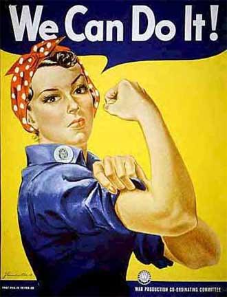 סמל המהפכה הפמניסטית השניה שחוללה תרבות הנגד בסוף שנות השישים. נאבקו בזכותן של נשים לעבוד וללמוד באוניברסיטאות לפי רצונן החופשי. המהפכות אולי נראות שונות, אך הן כולן מכוונות להגשים אותו רעיון של הגשמת העוצמה הפנימית שיש בכל אדם באשר הוא אדם