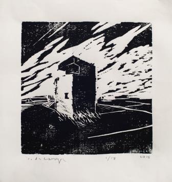 """הדפס עץ 15X15 ס""""מ, צילום: ליאור חריש"""