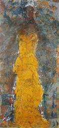 מתוך התערוכה: מירי פנאן, גודל מטר על שניים שמן על בד, צילום: דני כיתרי, באדיבות: סדן הפקות