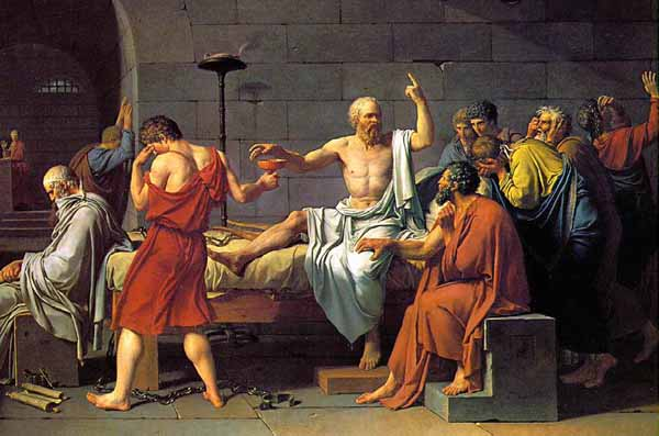מותו של סוקרטס. ציור מאת ז'ק לואי דויד (1787)