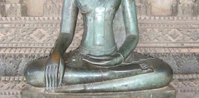 פסל של בודהה בתנוחת מדיטציה, לאוס