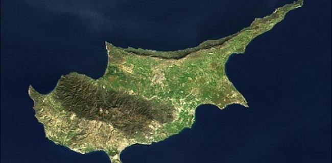 תמונת לווין של האי קפריסין