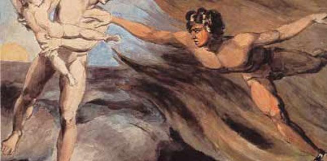 הפרסים העתיקים תפסו את ההיסטוריה כמאבק דואליסטי נצחי בין הטוב לרע. ויליאם בלייק