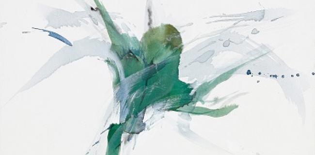 Green Flower, 63X83, מתוך התערוכה, צילום: אבי אמסלם, באדיבות: ורה פלפול
