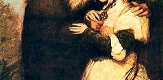 שיילוק וג'סיקה. צייר: מאוריצי גוטליב