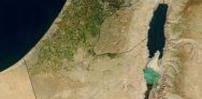 צילום לוויין של ישראל וסביבתה מ-2003