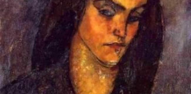סרח בת אשר – בכתב ובעל פה - ציור מודליאני