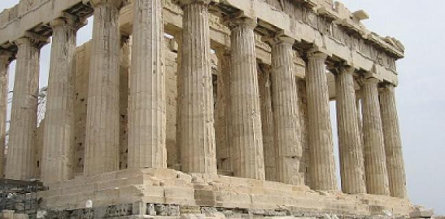 """הפארתנון, מקדש האלה אתנה, אתונה, 432 לפנה""""ס."""