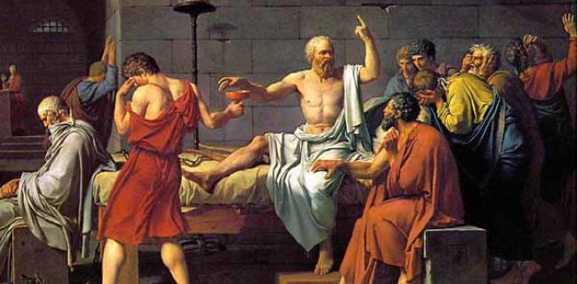 סוקרטס לוקח את כוס התרעלה מאת דויד