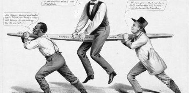 כרזת בחירות נגד לינקולן
