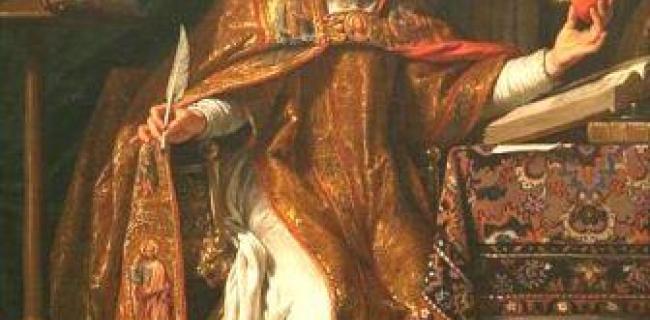 אוגסטינוס הקדוש מאת פיליפ דה שמפיין 1650