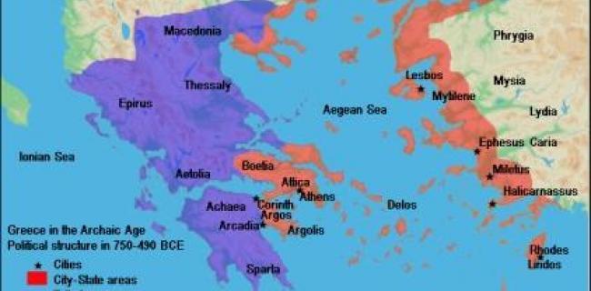 מפה של אתונה - ספרטה