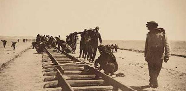 הנחת קווי הרכבת החיג'אזית
