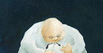 מתוך התערוכה: איש עסקים, מאיירת: ענבל לייטנר, באדיבות: הילה קומם