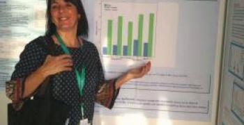 נרקיס דוני מציגה את עבודת המרכז הרפואי זיו בצפת בכנס הבינלאומי