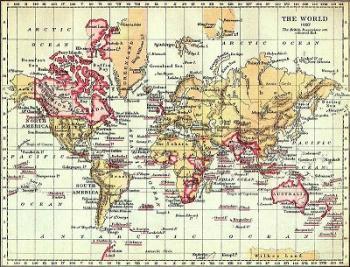מפת העולם משנת 1897