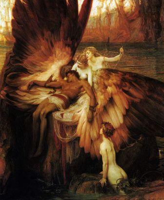 נשותיו של איקרוס מתאבלות על מותו