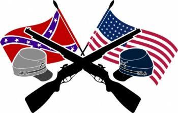דגלי הצפון והדרום - מלחמת האזרחים בארצות הברית- מאבק בין שתי ציביליזציות