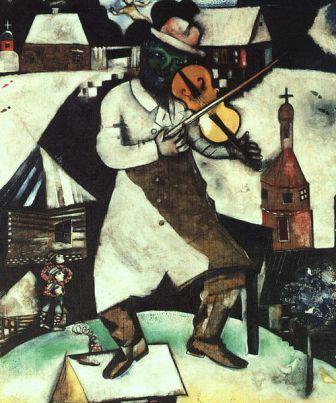 מוזיקה יהודית ומוזיקה  ישראלית. הכנר של שאגאל