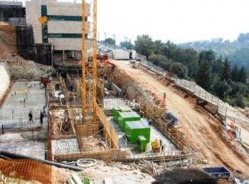 עבודות הבניה של מרכז בריאות הילד במרכז הרפואי זיו