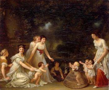 'צעדים ראשונים', ציור מאת Marguerite Gerard, שנת 1788
