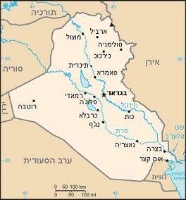 מפת עיראק