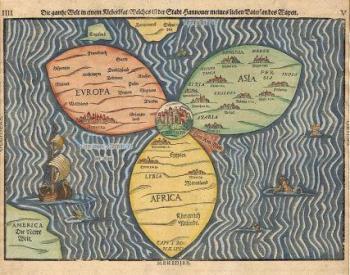 מפת העולם וירושלים במרכזו