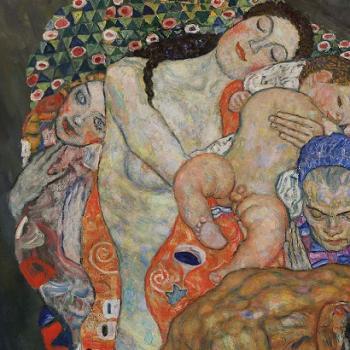 Gustav Klimt, detail of Death and Life, 1916