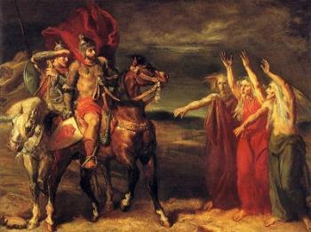 מקבת' ובנקו פוגשים את המכשפות, ציור של תיאודור שסריו.