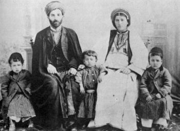 משפחה פלסטינית - ראמללה 1905