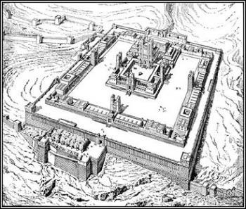 בית המקדש השני, איור מהמאה ה-19