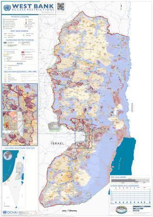 מפת הגדה המערבית