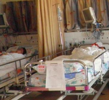 ילדים סורים פצועים במרכז הרפואי זיו
