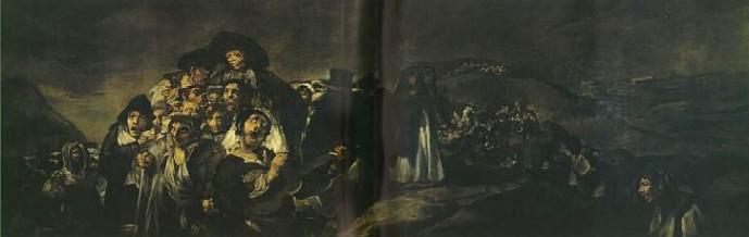 העליה לרגל למעיין של סן-איזידורו - שמן על טיח (הועבר לקנווס) 144 x 438 cm, 1821-3