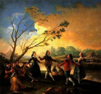 רוקדים על שפת המזנאר - שטיח קיר 269 x 285 cm , 1778
