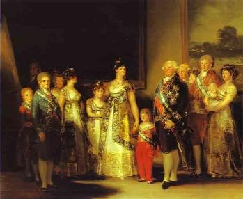 משפחתו של קרלוס הרביעי – שמן על קנווס 280 x 336 cm, 1800-1