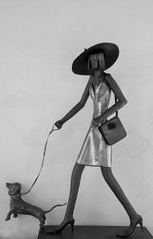 דב ברדה, אשה עם כלב, פיסול.