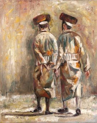 ציור של גננדי וובר מתוך התערוכה, שמן על בד, 50X70, קרדיט: סדן הפקות