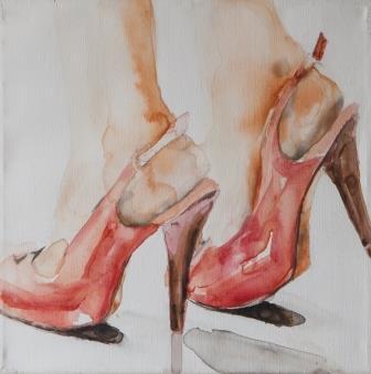 סנדלים אדומים, מתוך התערוכה, צילום: דורון כורש