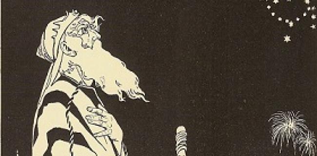 אברהם, תחריט עץ מעשה ידי אפרים משה ליליין