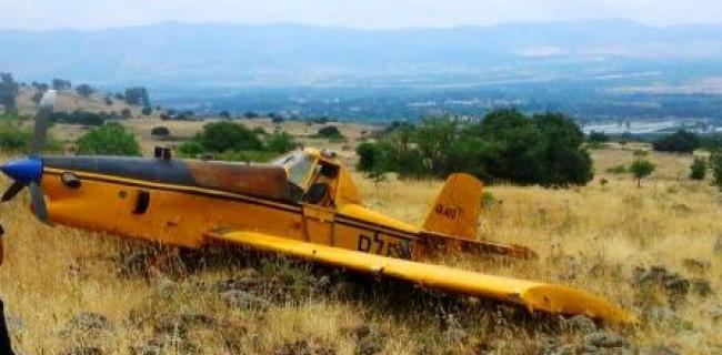 טייס מטוס ריסוס טופל בחדר המיון במרכז הרפואי זיו  לאחר נחיתת חירום במורדות הגולן