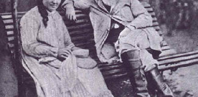 פיסארו עם אשתו, 1877