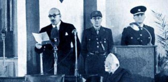 השבעת הנשיא ויצמן 1949
