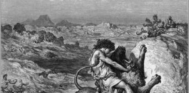 שמשון קוטל את האריה - גוסטב דורה