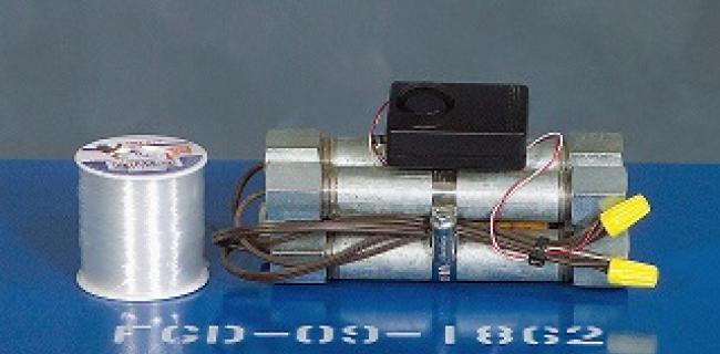 דוגמה למטען צינור עם הצתה אלקטרונית