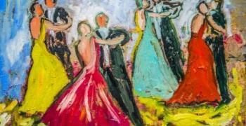 מתוך התערוכה: דליה זילברברג / תשוקות הצבע (באדיבות: שירי מאיר - עמותת אמני ישראל מתאגדים)