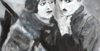 """מתוך התערוכה: הבהלה לזהב / רבקה גלבוע, 60X70 ס""""מ, שמן על בד"""