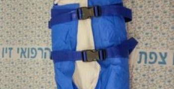 תינוק במתקן מיוחד לבדיקת דימות (MRI) ללא צורך בהרדמה, צילום: יערית חזן (תקשורות)
