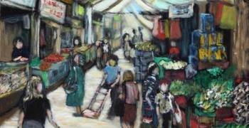 שוק מחנה יהודה, שמן על בד, 2012 ? (קרדיט: סדן הפקות)